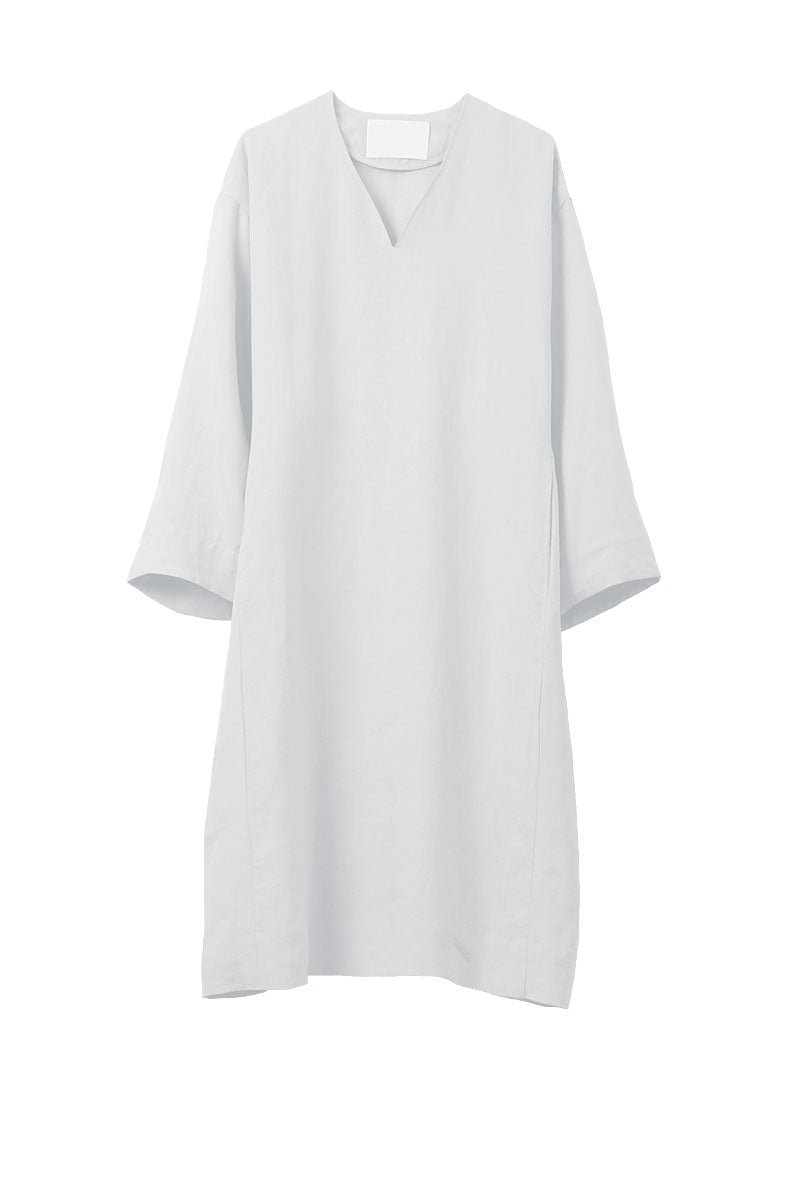 Color Linen Oversize Dress | Shell White