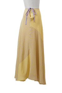 Silk Dot Skirt | Citrine