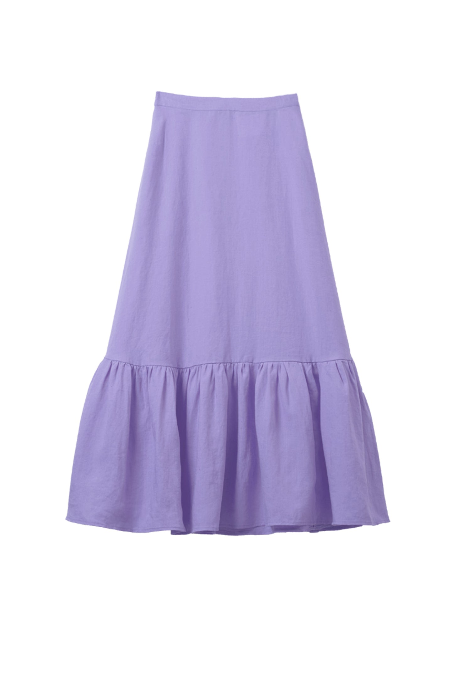 Color Linen Tiered Skirt | Lilac