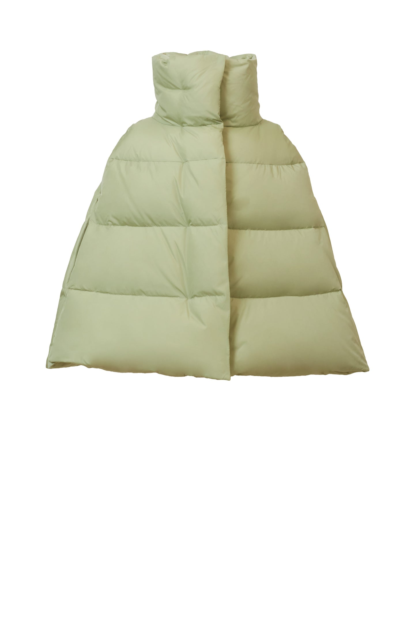 Poncho Down Coat | Sage