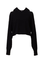Load image into Gallery viewer, Cashmere Knit Short Hoodie | Stone
