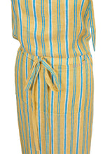 Load image into Gallery viewer, Stripe Linen Apron|Citrine