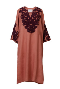 Tape Embroidery Tunic | Terracotta
