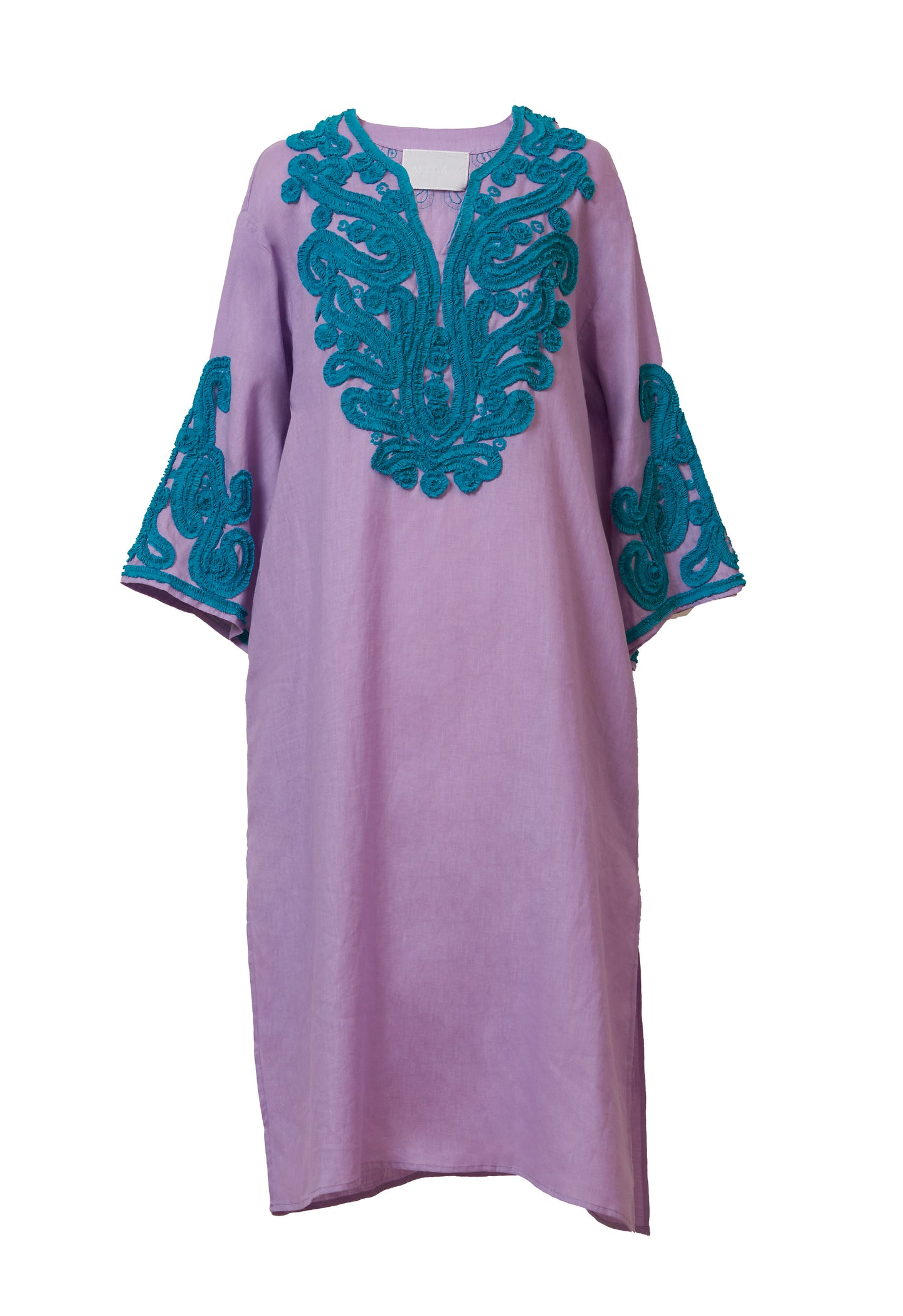 Tape Embroidery Tunic | Lilac