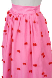 Dot Fringe Skirt | Dot Fringe Pink