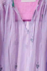 Embroidery Kaftan Blouse | Lilac