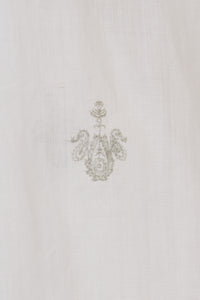 Embroidery Neck Gathered Dress | Shell White