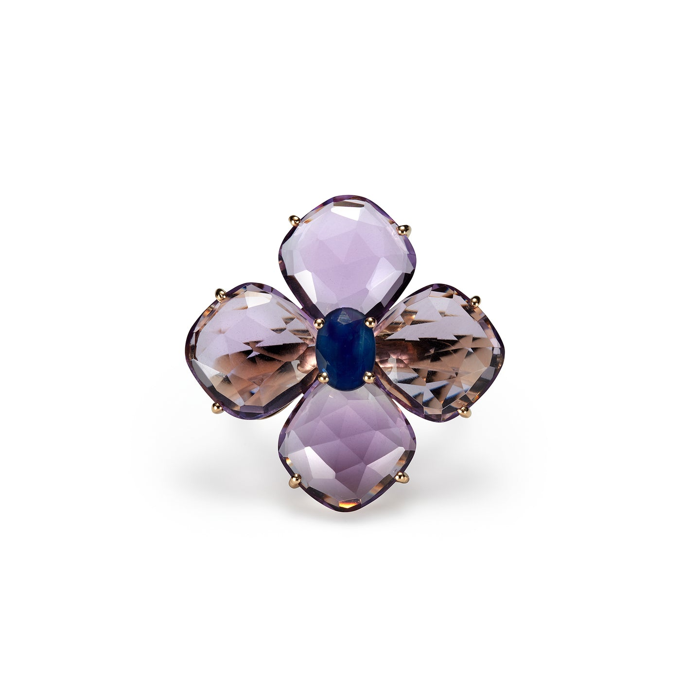 Pattee Ring  | Amethyst × Blue Sapphire