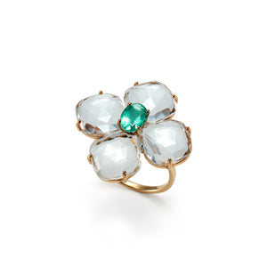 Pattee Ring  | Crystal × Emerald
