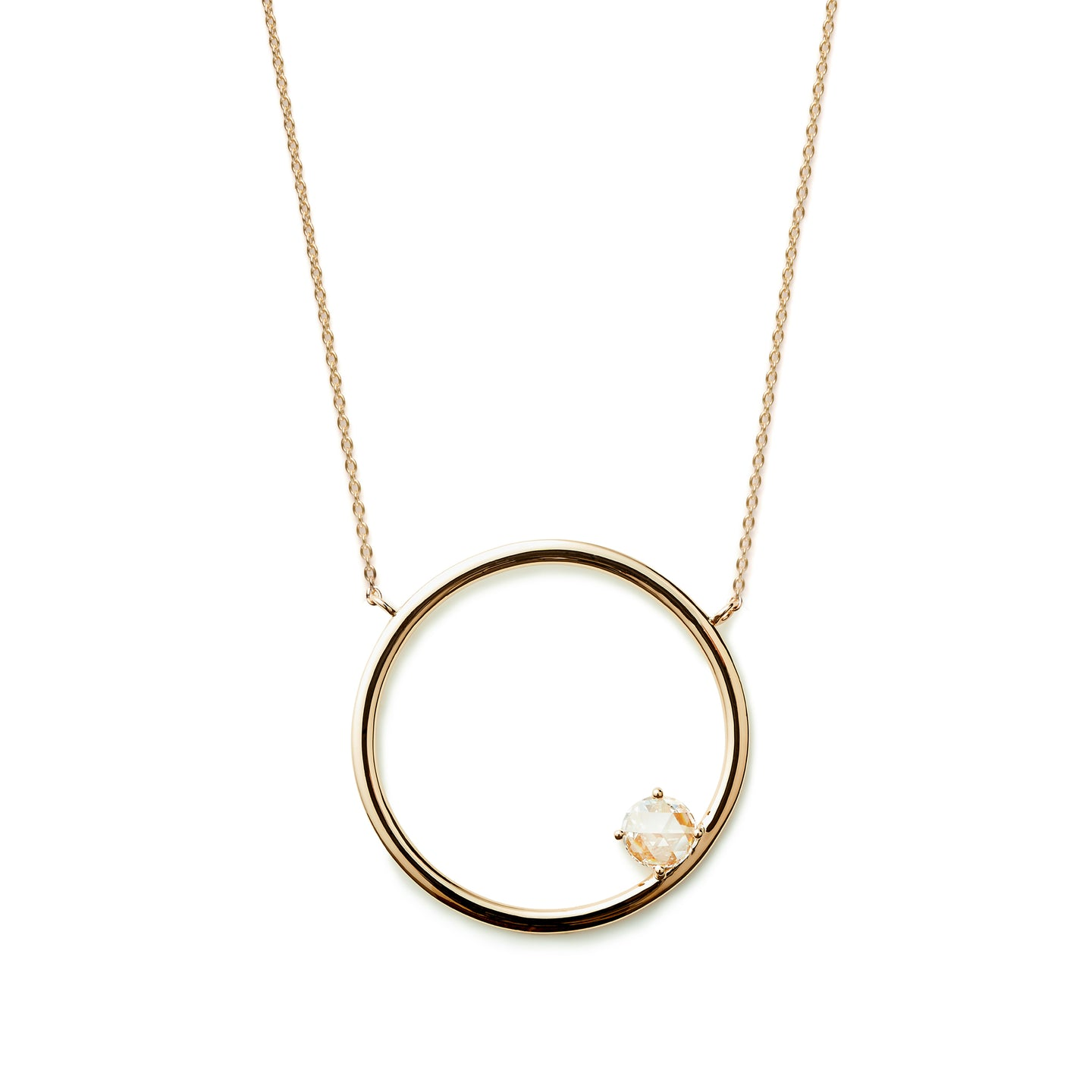Sacred Geometry Circle Necklace  | Diamond