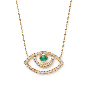 Surya Eye Diamond Necklace | Emerald×Diamond