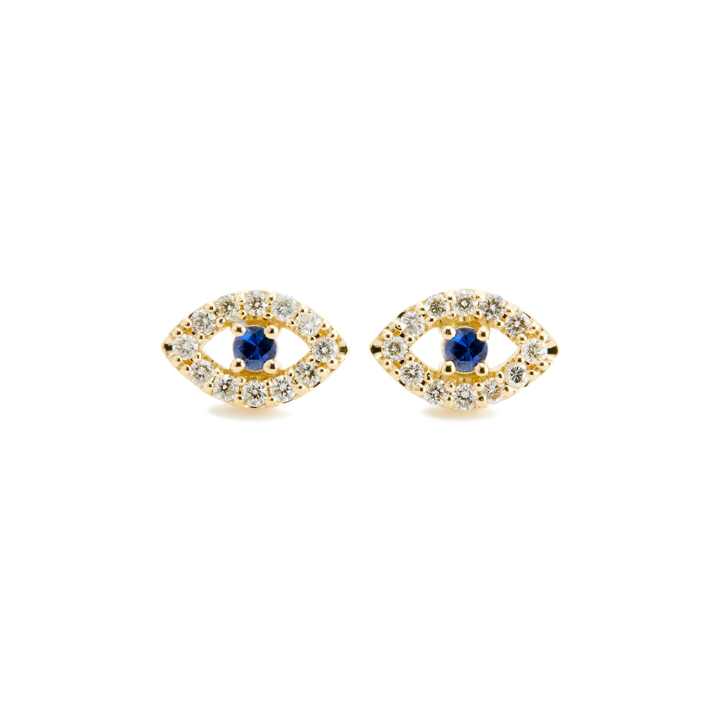 Surya Eye Petit Earrings  | Blue Sapphire