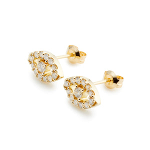 Surya Eye Petit Earrings  | Diamond