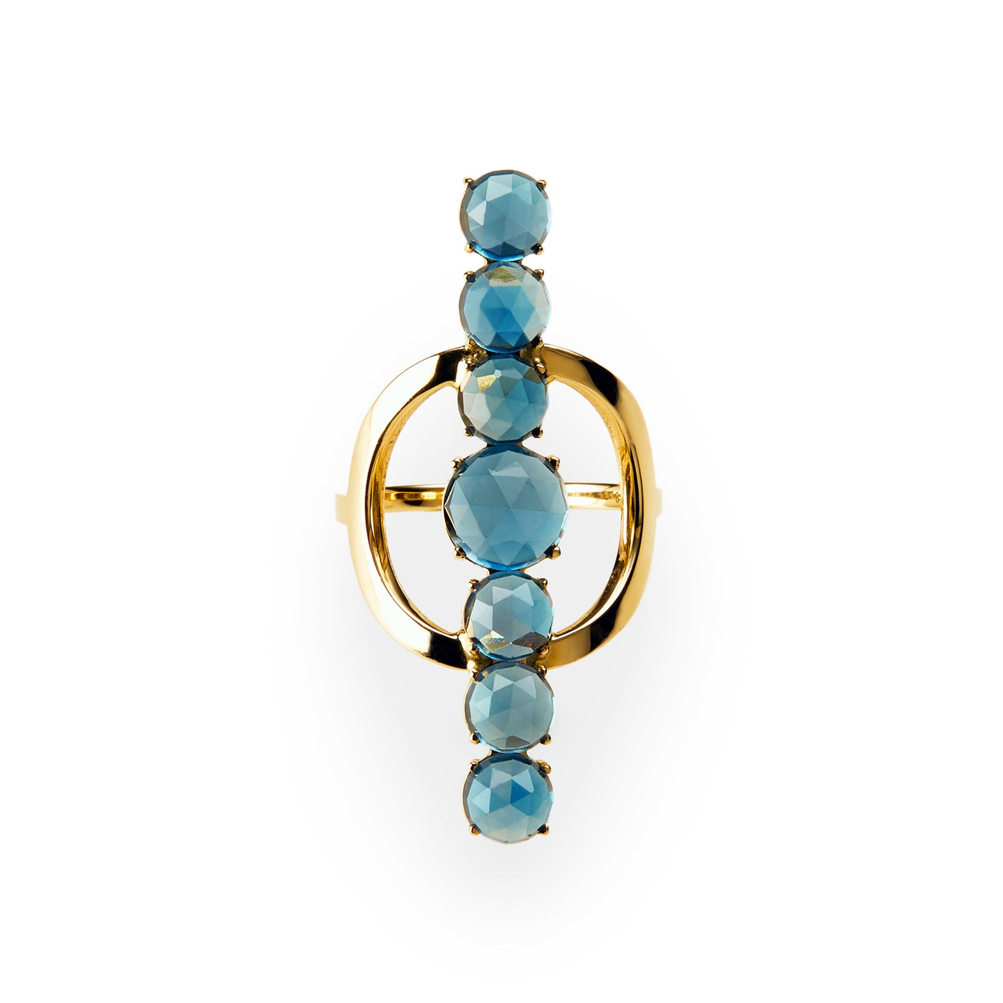 Chakra Ring  | London Blue Topaz