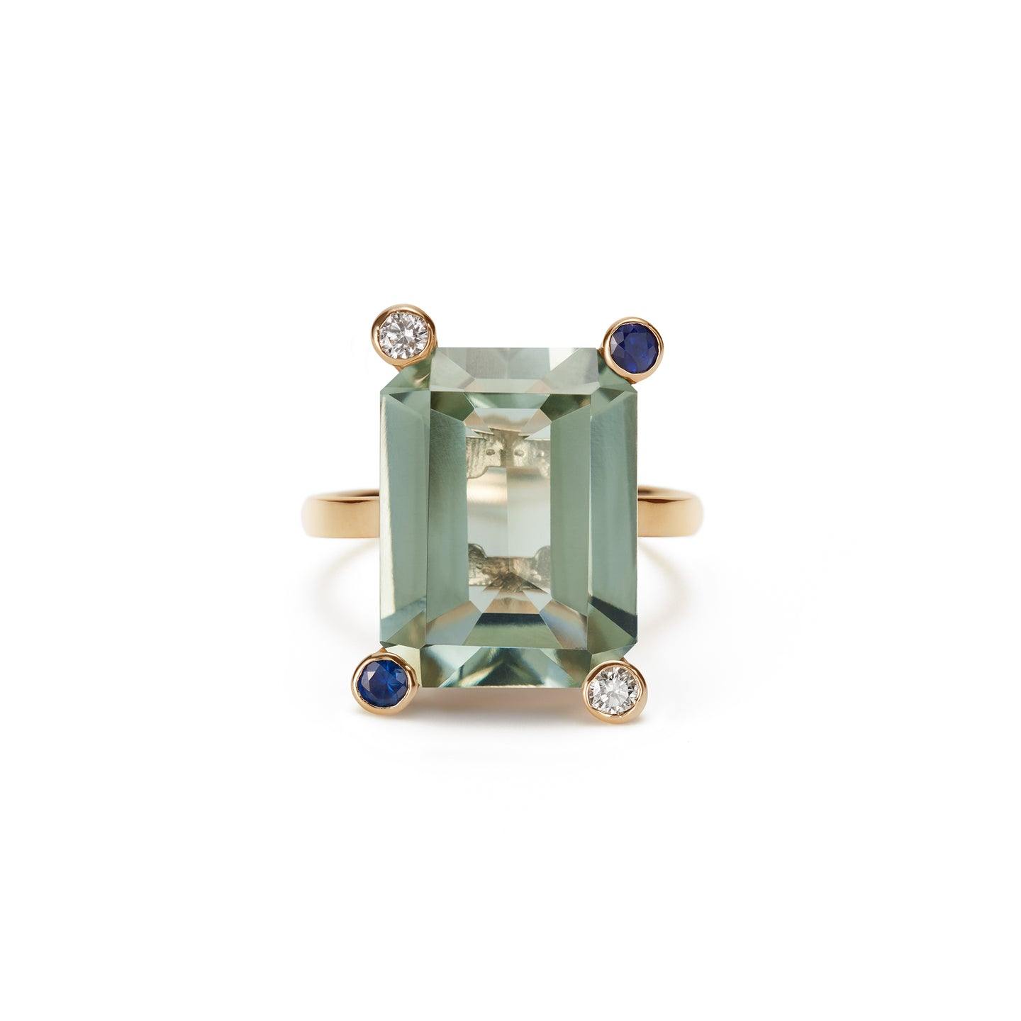 Cosmo Square Ring  | Green Amethyst