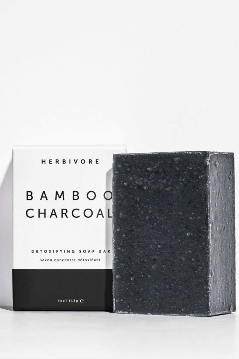 [HERBIVORE BOTANICALS]--Cleansing Bar Soap | Bamboo Charcoal