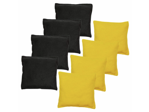 Cornhole Bags | Eight Set Black and Yellow