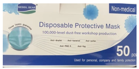 50 pieces- Disposable 3-ply mask-50 in a box