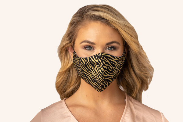 Women's Woven Exotic Black & Gold