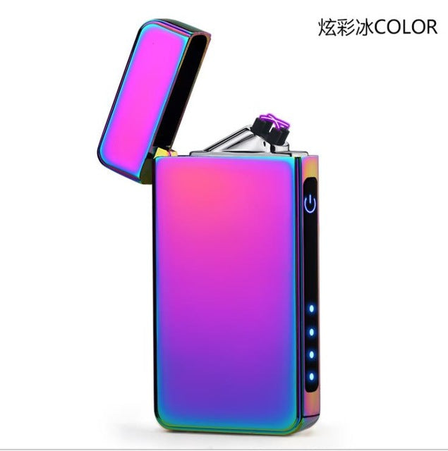Double Plasma Arc Lighter Windproof