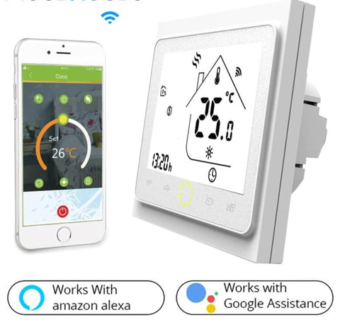 WiFi Smart Thermostat Temperature Controller for Water/Electric with Alexa Google Home