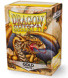 Dragon Shield: 100 Micas Tamaño Standard Matte Gold