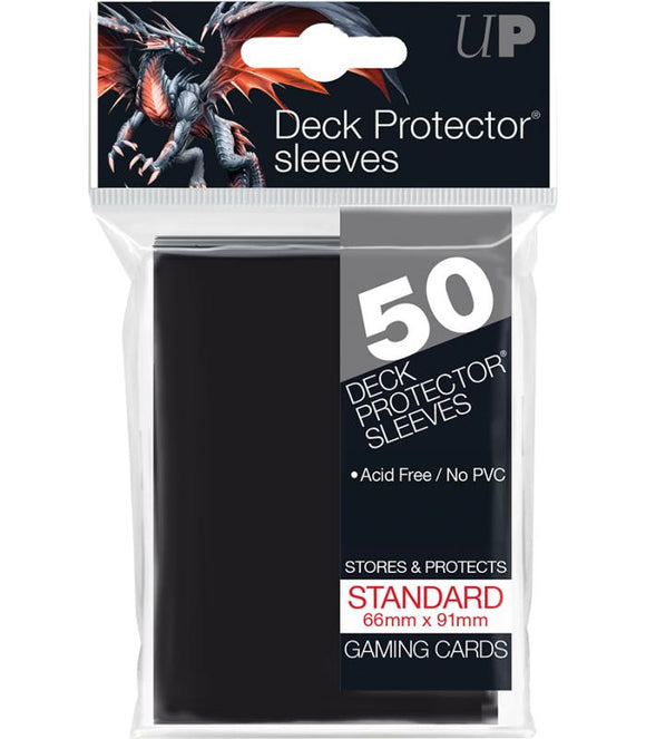 Ultra Pro: Deck Protector Sleeves Standard - Negro