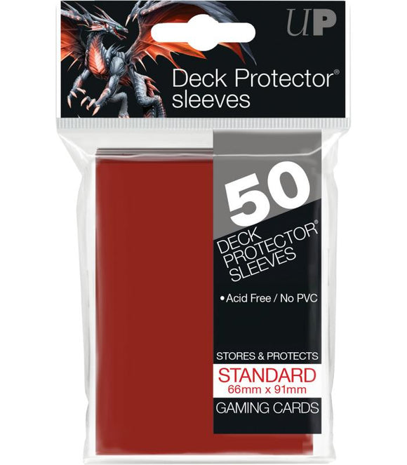 Ultra Pro: Deck Protector Sleeves Standard - Rojo