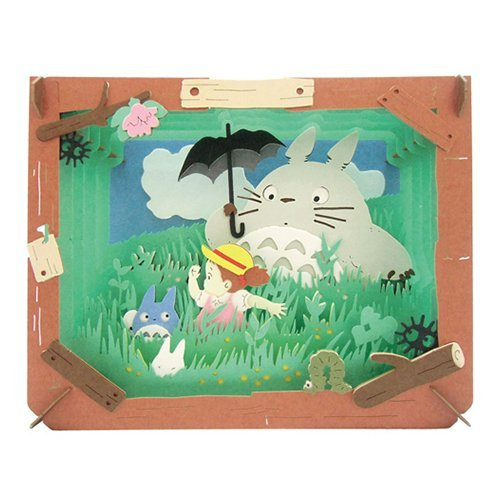 Ghibli My Neighbor Totoro Fields and River Paper Theater