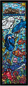 Disney Stained Art Jigsaw Puzzle - Finding Dory - 456 piezas