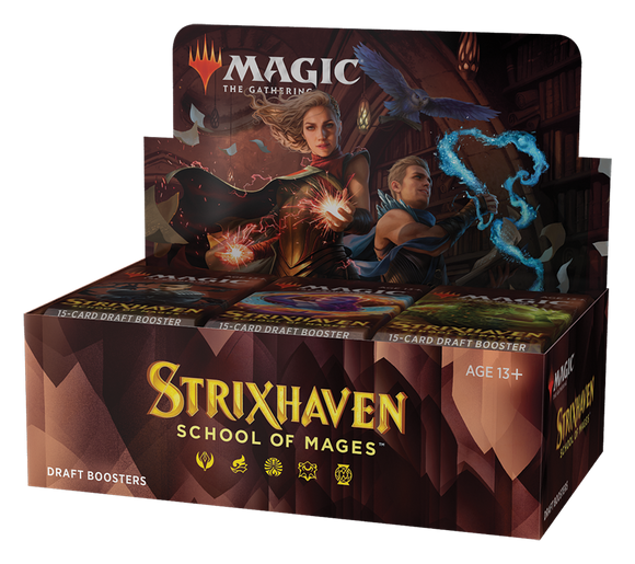 PREVENTA - Magic the Gathering: Strixhaven: School of Mages Draft Booster Box - INGLÉS