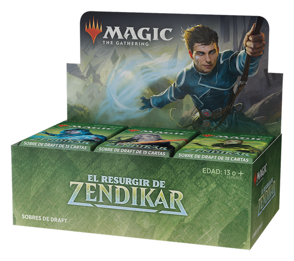 Magic the Gathering: Zendikar Rising Draft Booster Box - INGLÉS