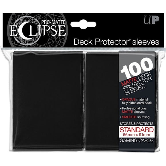 Ultra Pro: PRO-MATTE Eclipse Deck Protector Sleeves Standard - Black