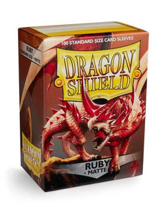 Dragon Shield: 100 Micas Tamaño Standard Matte Ruby
