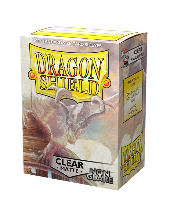 Dragon Shield: 100 Micas Tamaño Standard Anti-reflejante Matte Clear