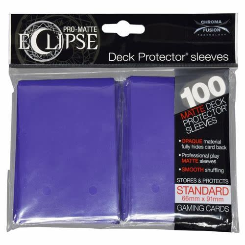 Ultra Pro: PRO-MATTE Eclipse Deck Protector Sleeves Standard - Purple