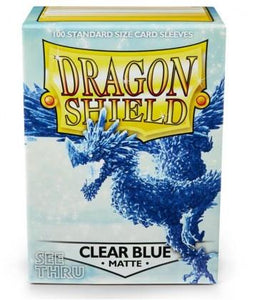 Dragon Shield: 100 Micas Tamaño Standard Clear Blue Matte