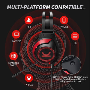 VANKYO Gaming Headset CM7000 Pro PS4 Headset with 7.1 Surround Sound Stereo Xbox One Headset audio VANKYO