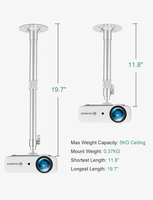 VANKYO Universal Extending Projector Ceiling Mount, Compatible with VANKYO Leisure 3 accessories VANKYO