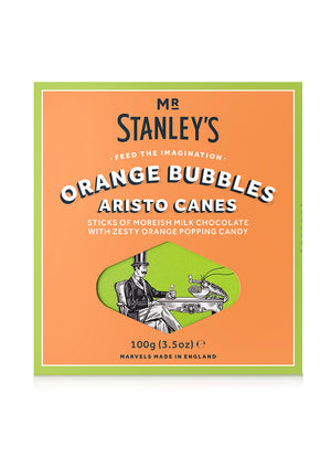 Orange Bubbles Chocolate Aristo Canes