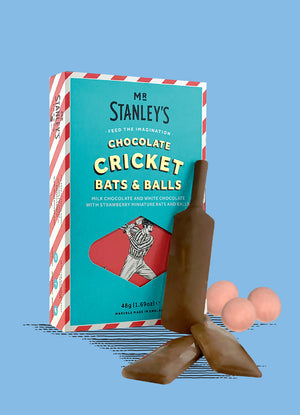 Milk Chocolate Cricket Bat & Balls