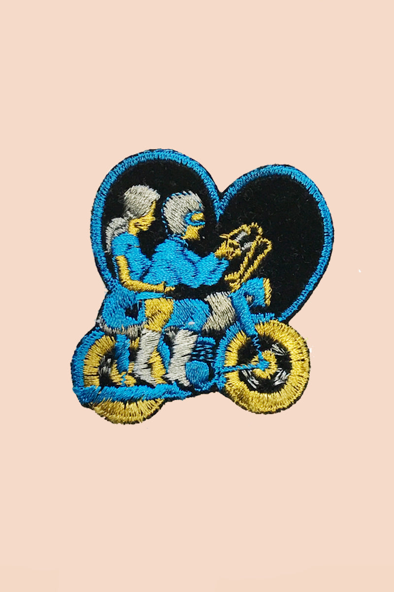Motorcycle Lovers Patch in Blue