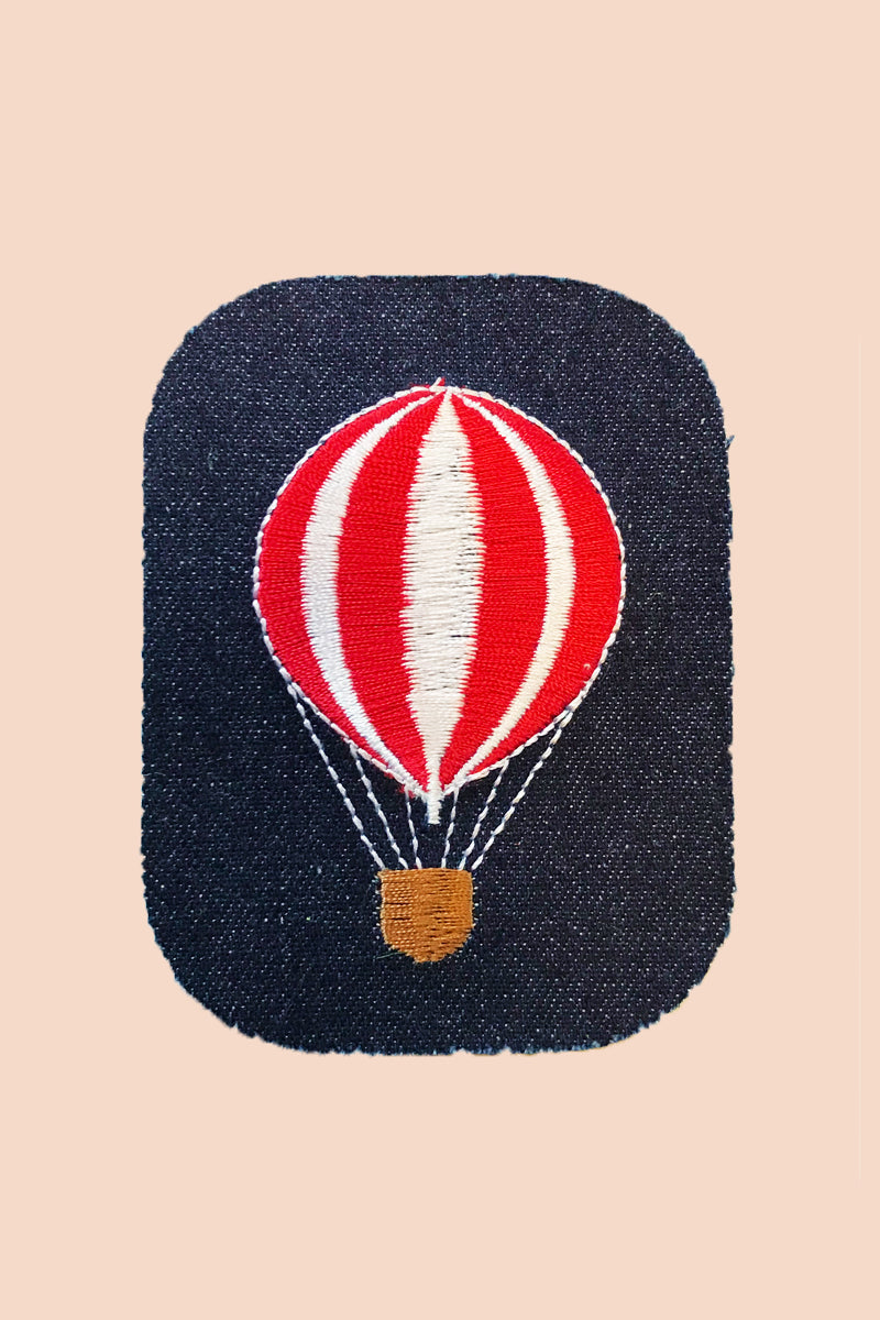 Hot Air Balloon Denim Patch