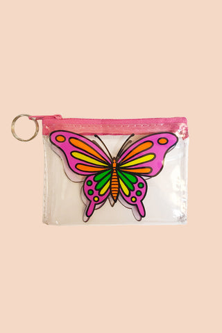 Technicolor Butterfly Coin Purse