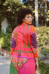 Vintage 1960's Psychedelic Day Tripper Maxi Dress