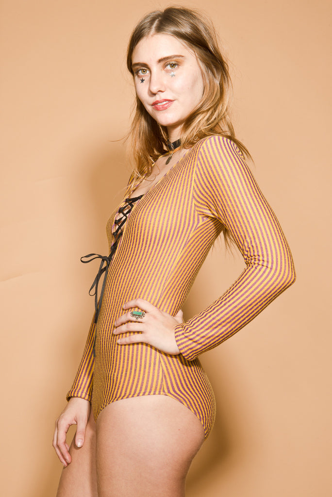 Day Tripper Lace-Up Bodysuit