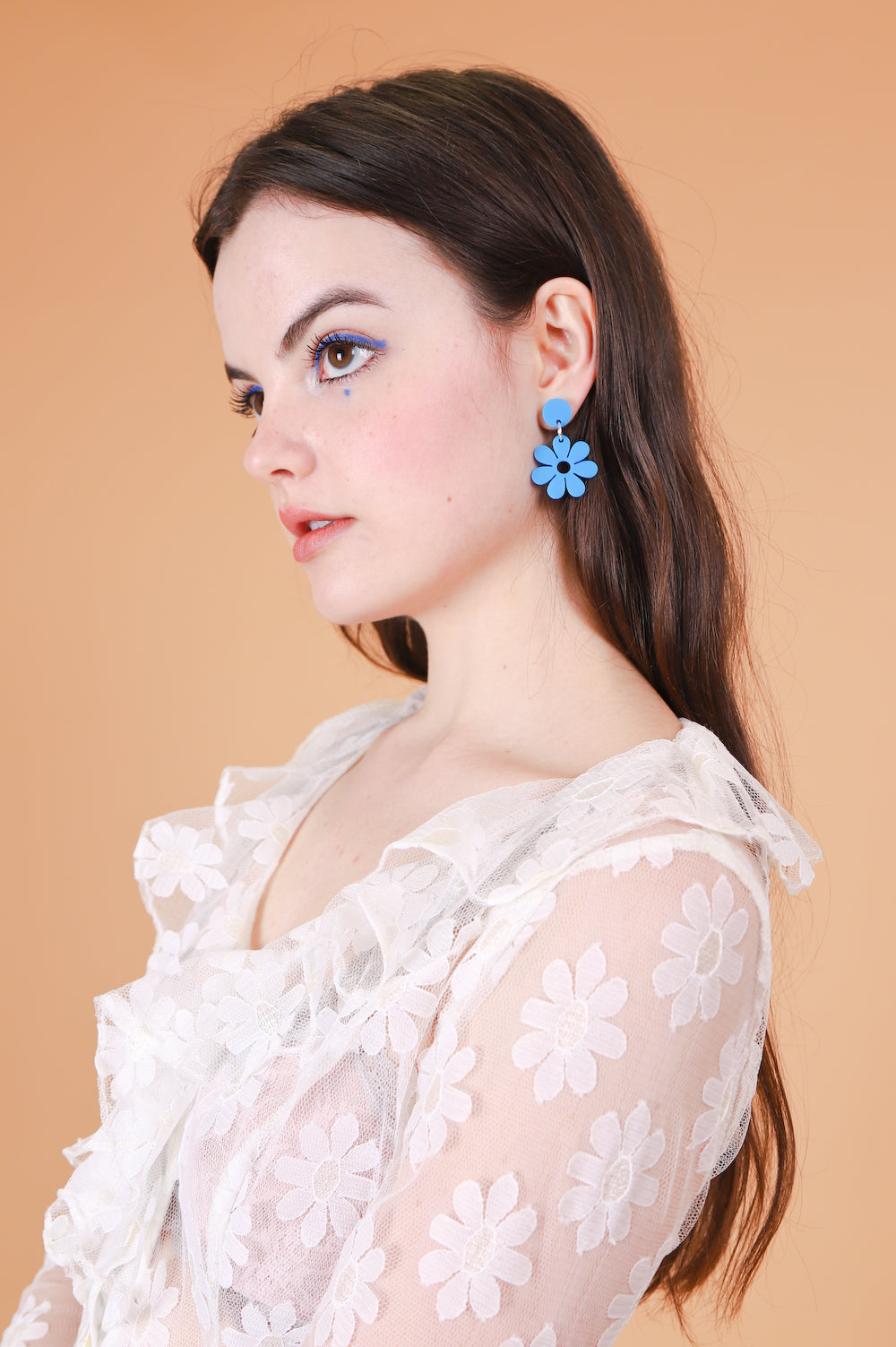 Daisy Earrings in Blue
