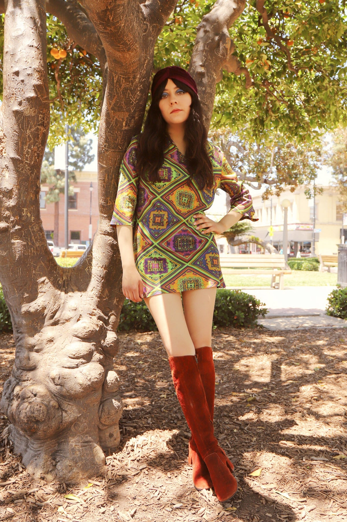 Vintage 1960's Hot Smoke and Sassafras Mini-Dress
