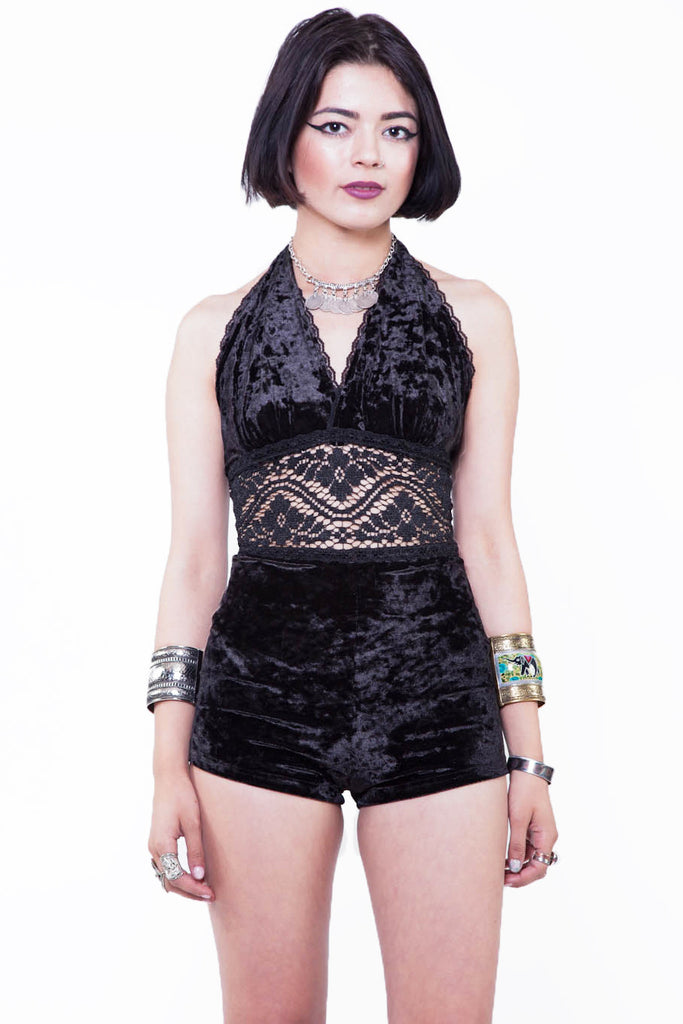 Sisters of the Sabbath Velvet Romper