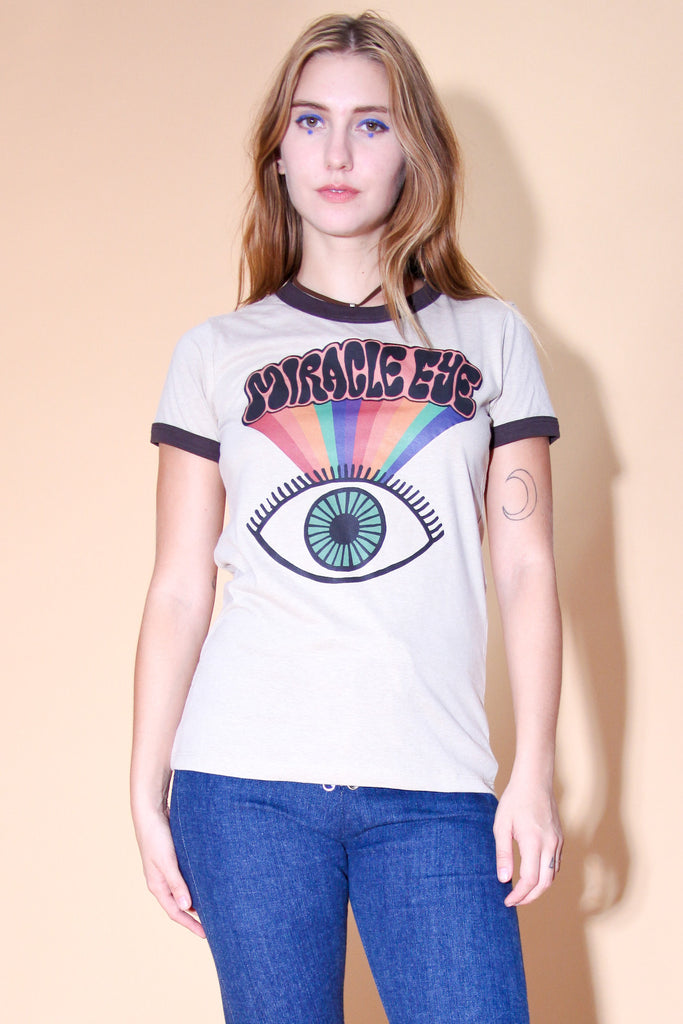 Miracle Eye Tan Ringer T-Shirt